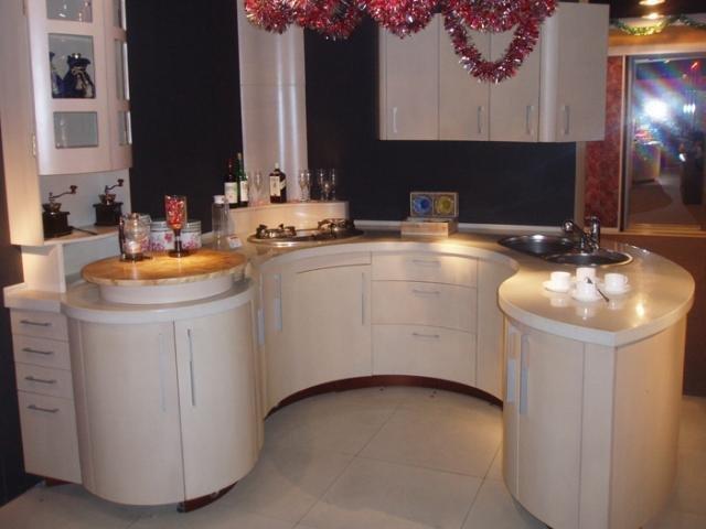 полукруглые дизайн фото кухни