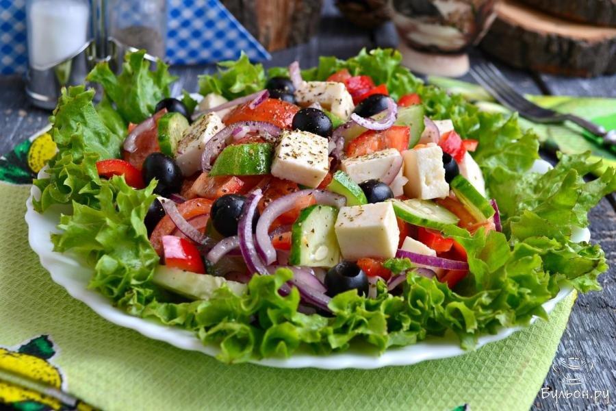 греческий салат рецепт фото с