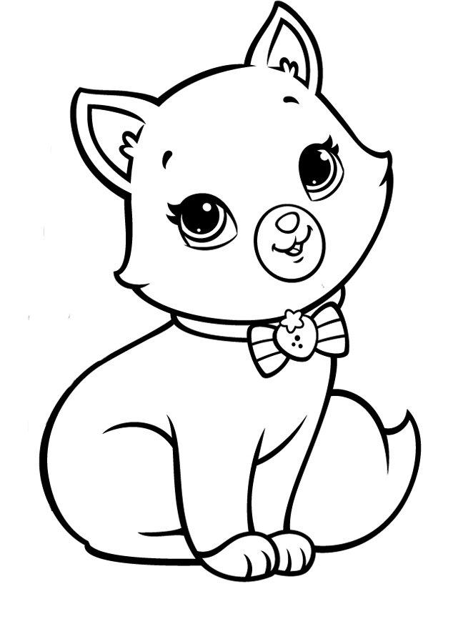 Кошечки картинки для детей раскраски