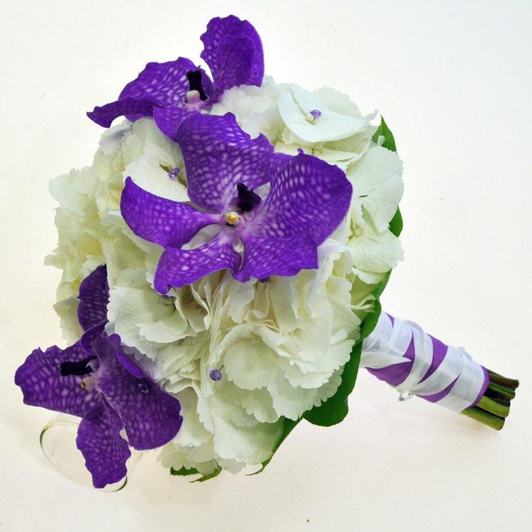 Гортензия с орхидеей свадебный букет цена, цветов метро октябрьское