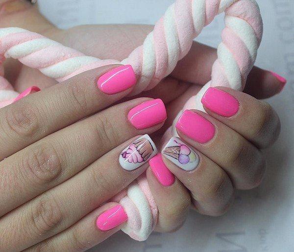 Модный розовый маникюр. круто!