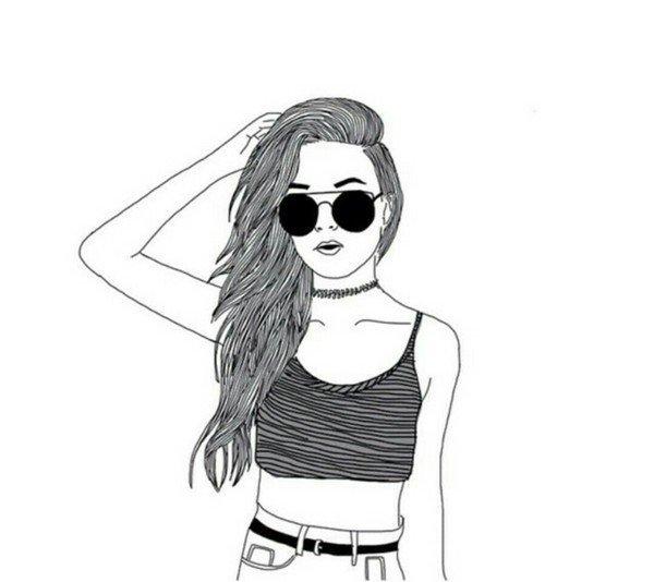 рисунок фото девушки