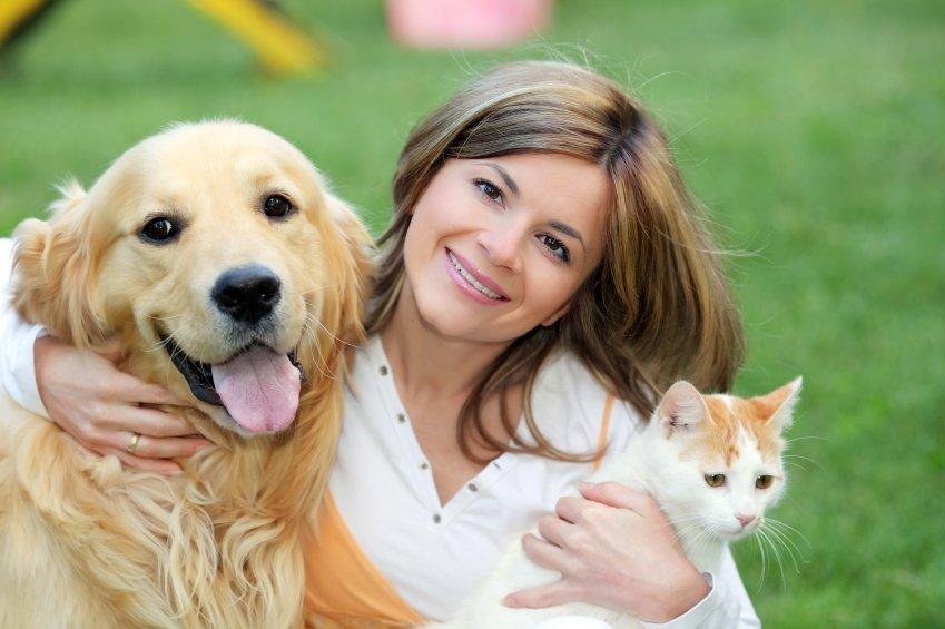 Картинки с животными и людьми