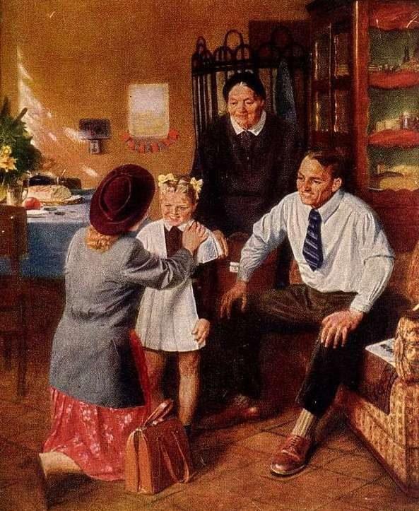 Открытки репродукции 1960 год, про будущее 1930