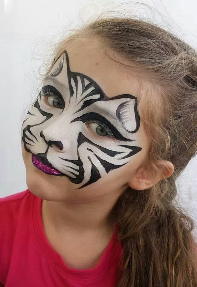 face painting cat - 550×800