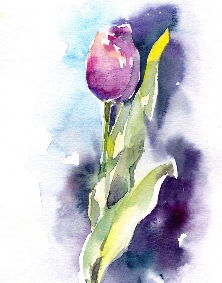 рисуем цветы акварелью картинки креативный