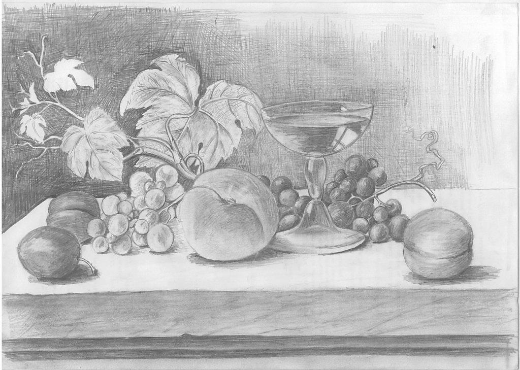 правило, картинки для рисования натюрморта из фруктов подходит для