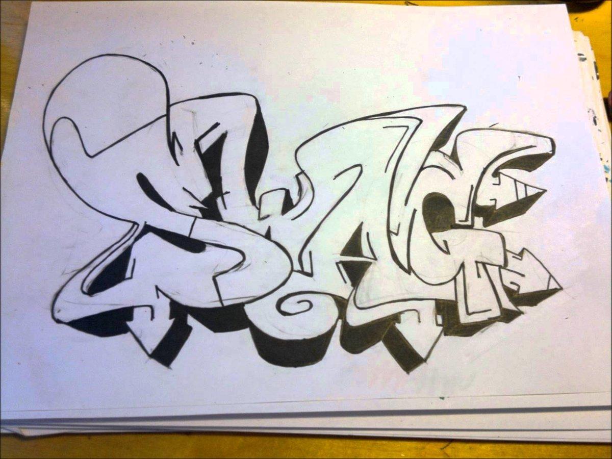 рисовать граффити на бумаге карандашом картинками самом начале мая