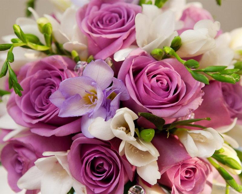 Букеты из роз, кустовые розы, тюльпаны, коробки