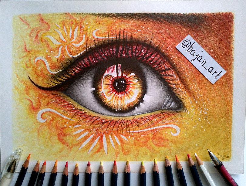 Картинки цветными карандашами прикольные, крутые картинки