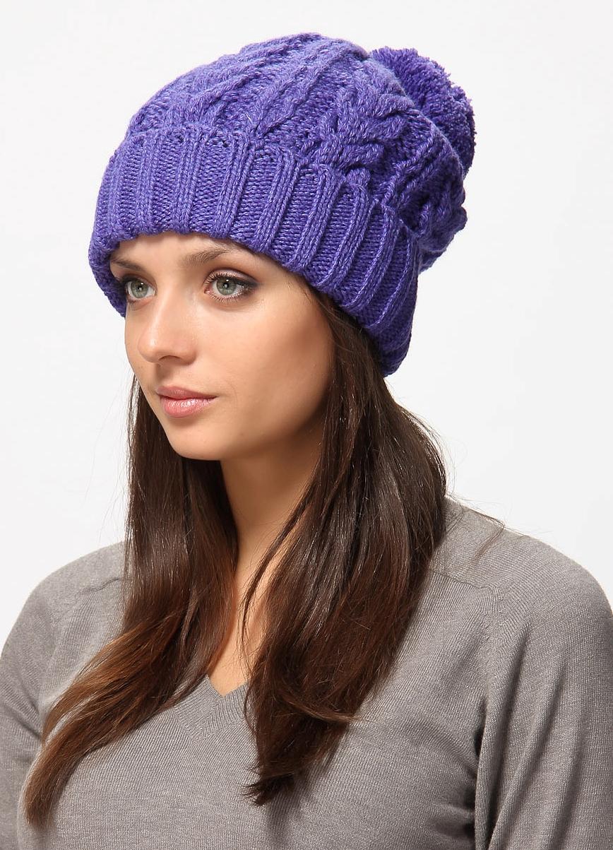 женские вязаные шапки спицами модные модели карточка