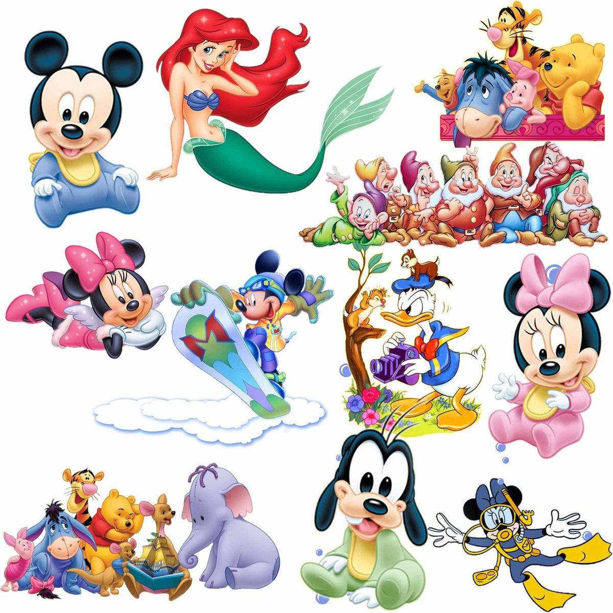 Картинки с героями из мультфильмов дисней, открытка