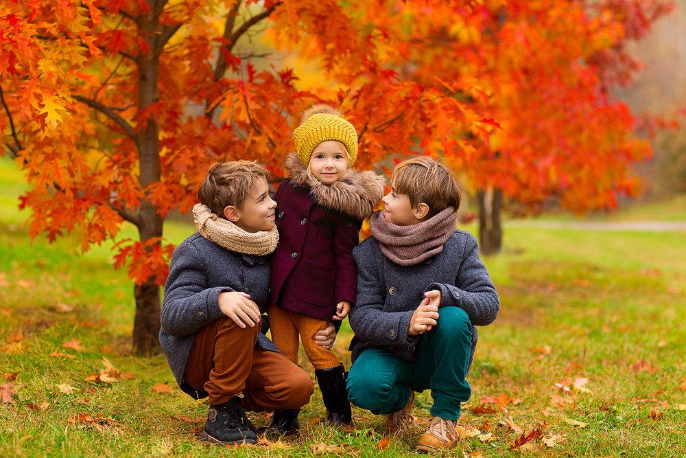 Денем рождения, картинки дети на природе осенью