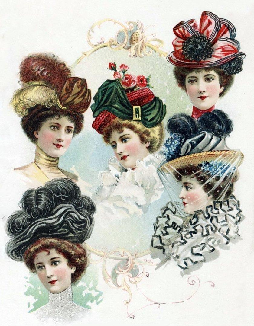 Старинные открытки мода