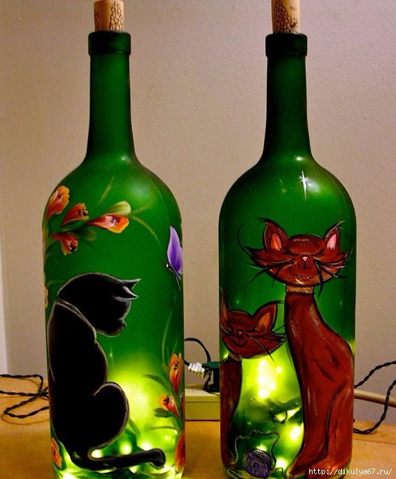 Прикольные рисунки на бутылках