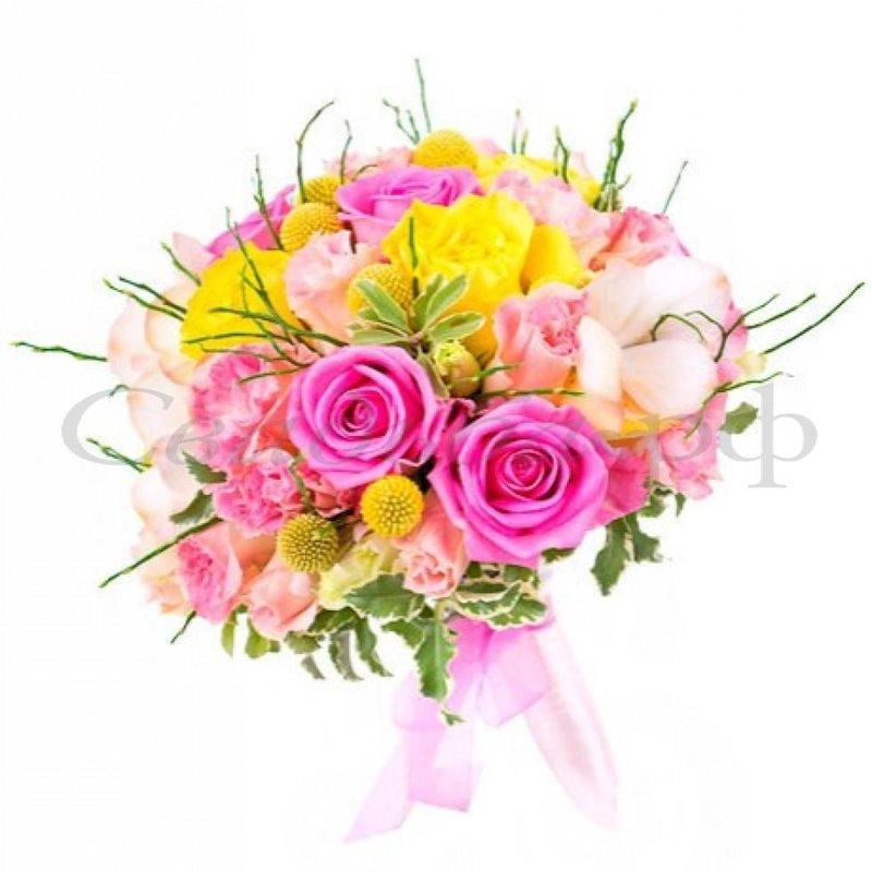 Картинки свадебный букет с розовыми розами