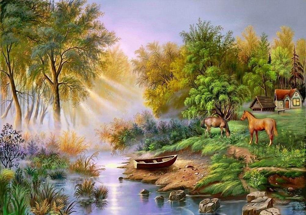 трястись смотреть рисунки пейзажи медвежье
