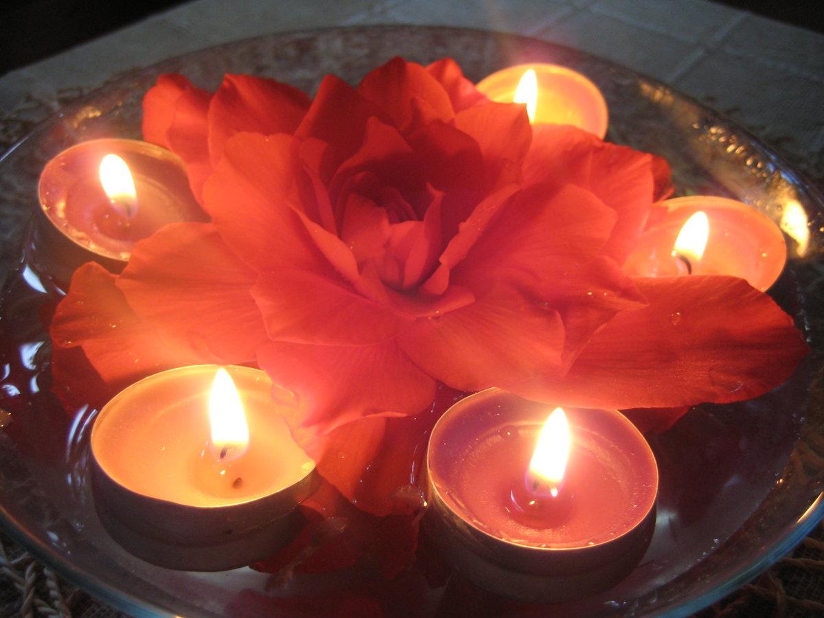 Картинки цветы со свечой