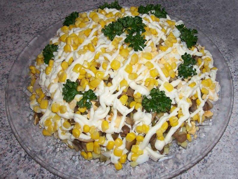 Салат золотая осень рецепт с фото