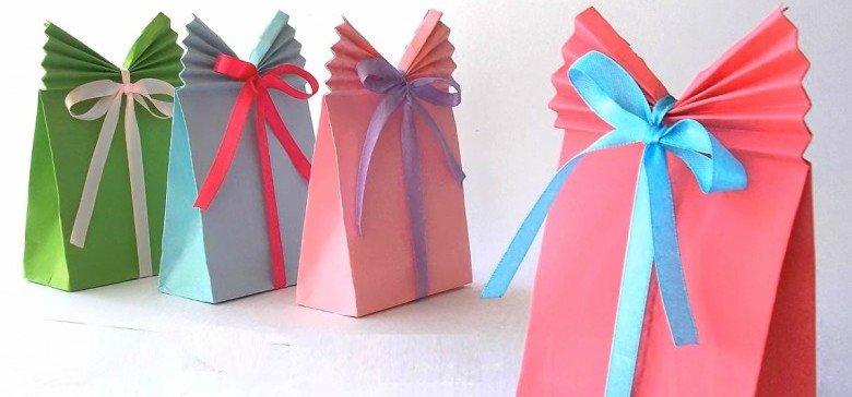 Подарочные пакетики своими рукам