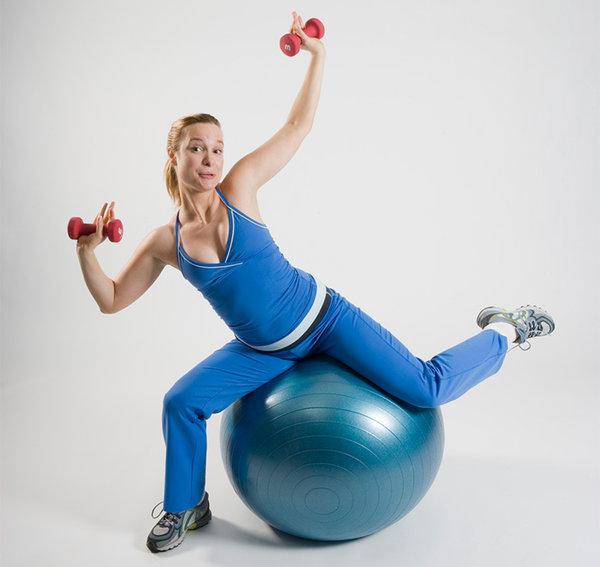 Фитнес с мячом картинки