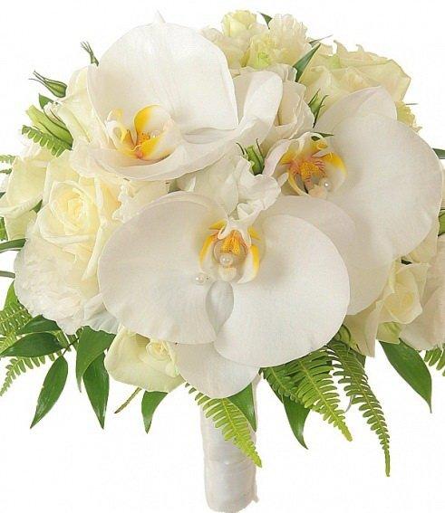 Свадебный букет из роз и орхидей купить спб, доставка цветов москве
