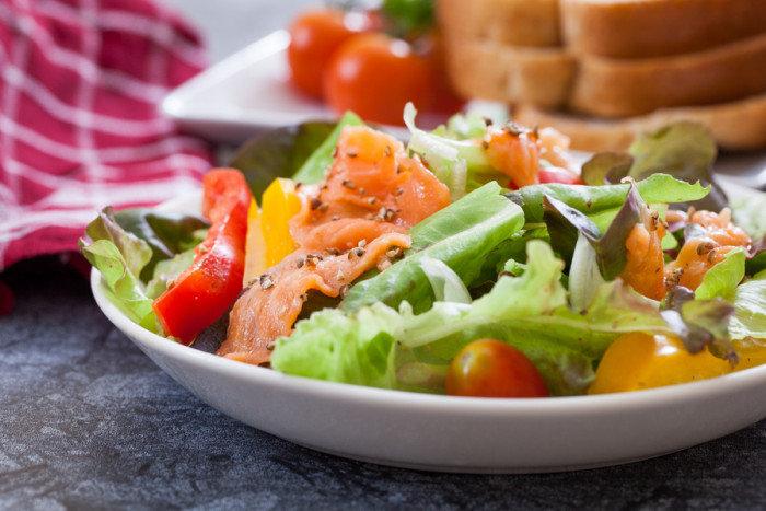 Салат из лосося слабосоленого рецепты с фото