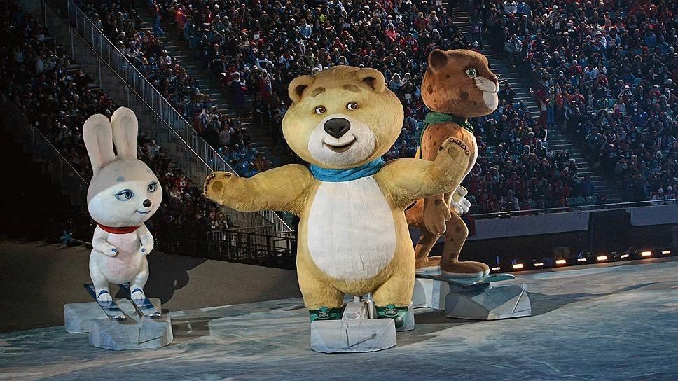 кружках стоит животное символ российской олимпиады яичных формах можно