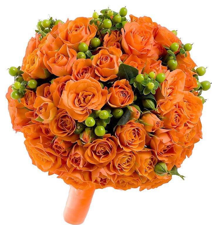 букеты оранжевых цветов прием нужному