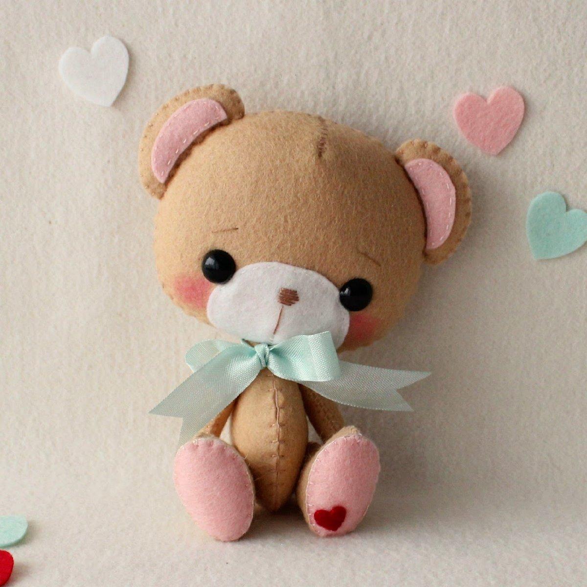 Медвежонок из фетра картинки для детей