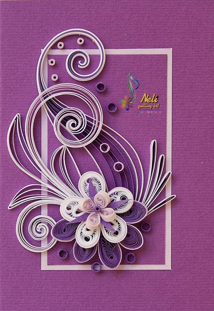 Живые, квиллинг открытки с юбилеем для женщины