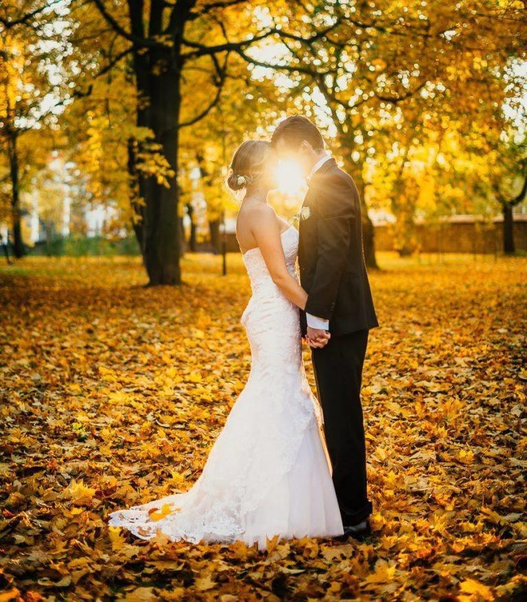 Картинки осенняя свадьба