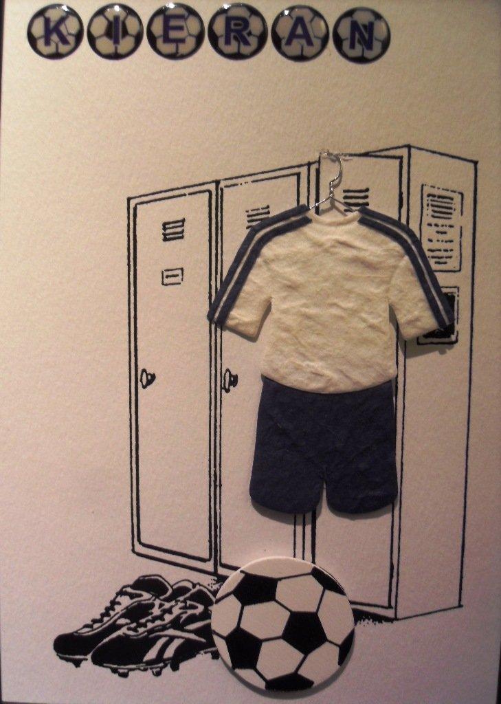 Поздравления, мужская открытка для футболиста