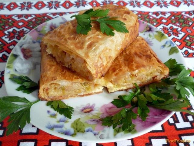 пирог с капустой из лаваша в духовке