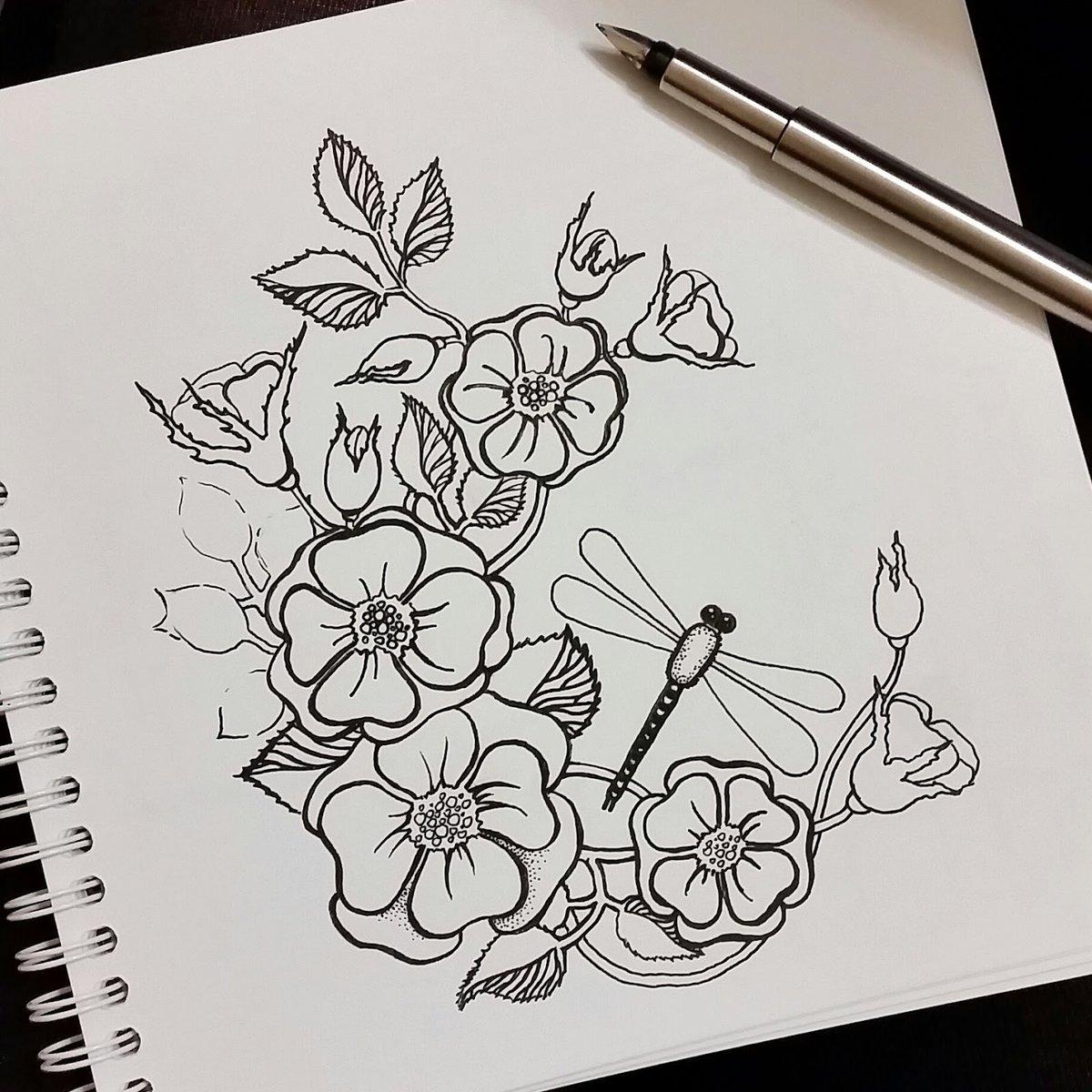 Легкие рисунки для срисовки гелевой ручкой