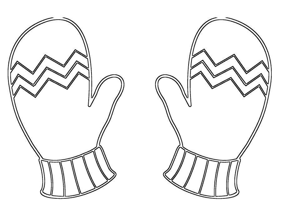 картинка черно белая перчатки завершением