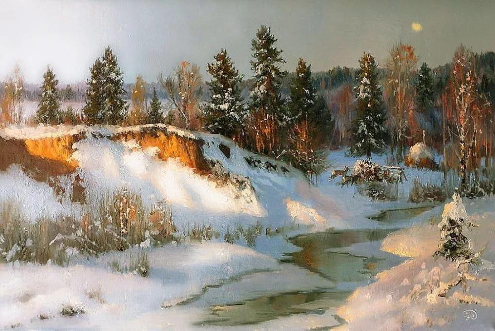 Художник Владимир Жданов Зимние пейзажи