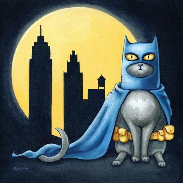 Картинка супер котик