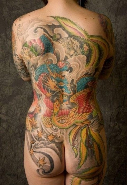 фото женских интимных татуировок с драконом