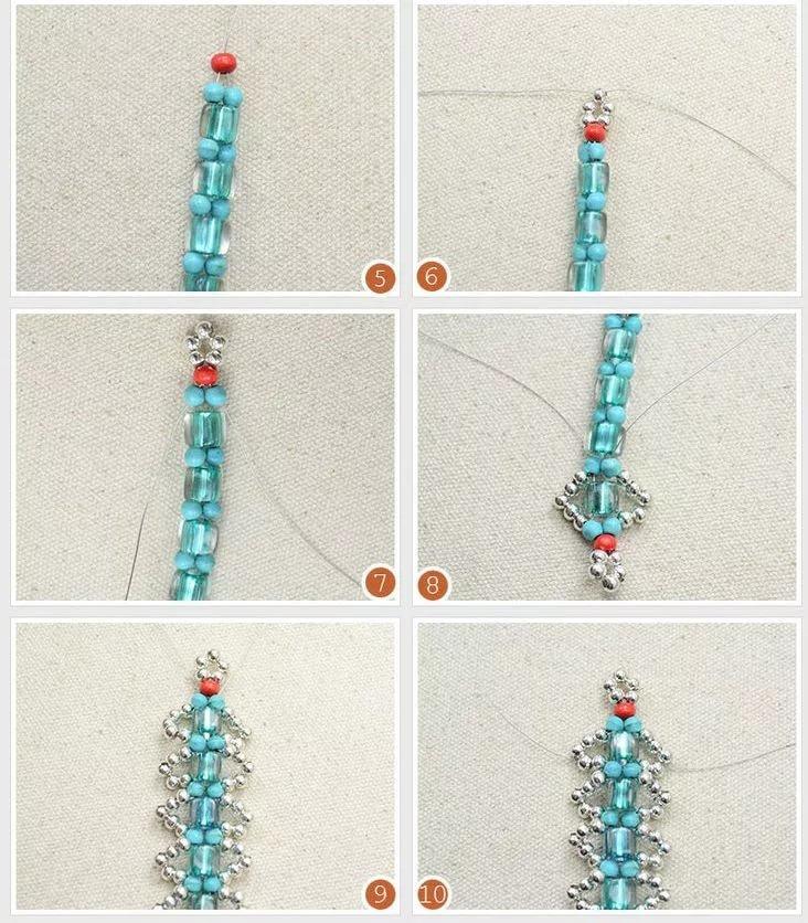 Легкие браслеты из бисера в картинках