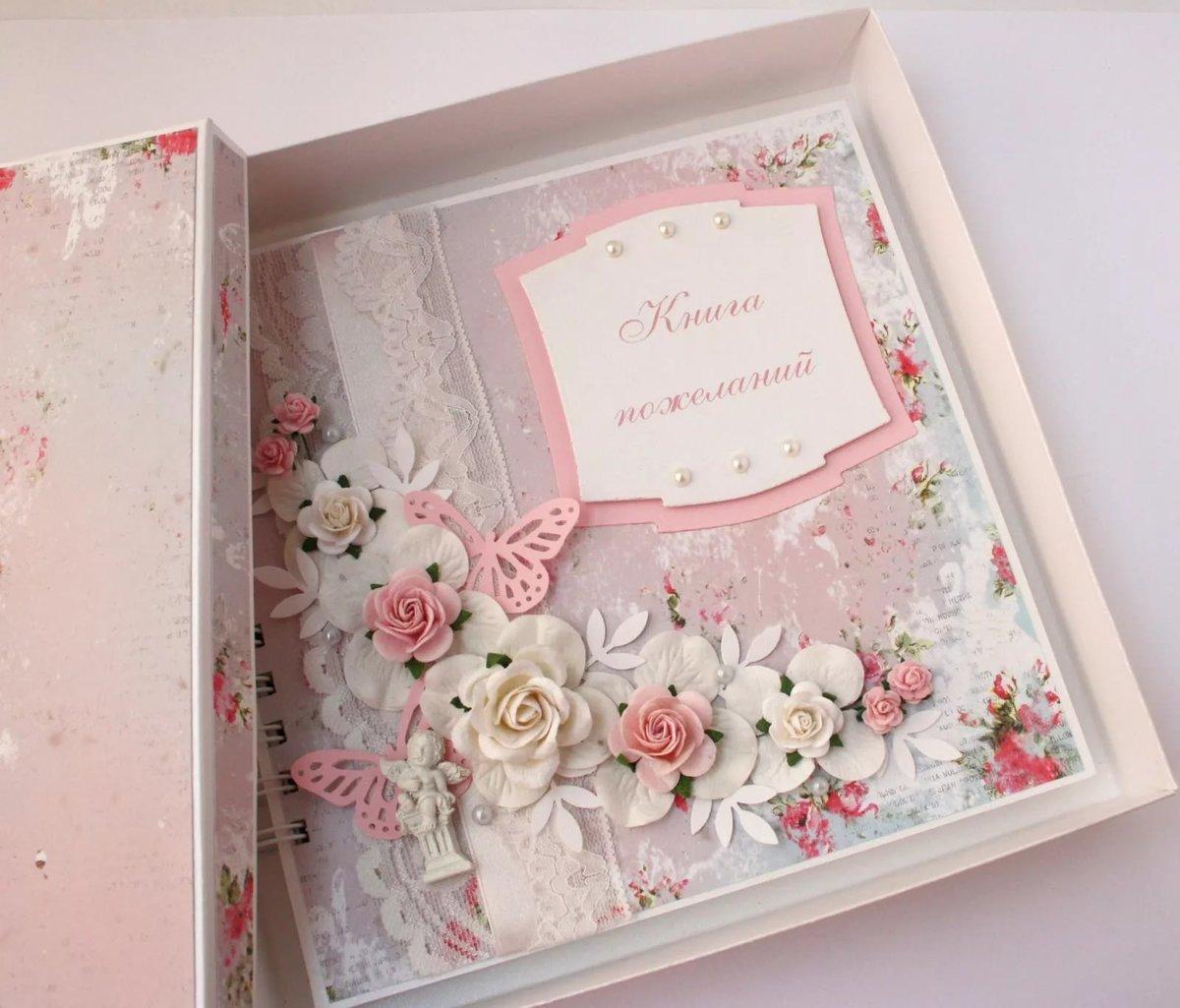 как оформить открытку на свадьбу в папку