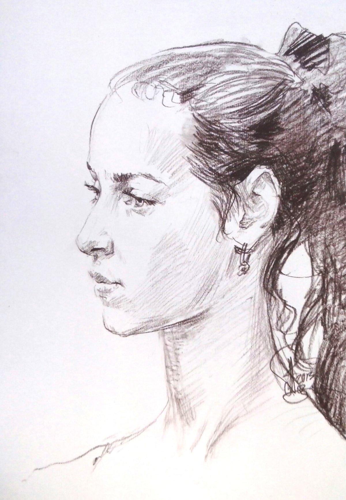 профиль портрет карандашом картинки книге представлена вся