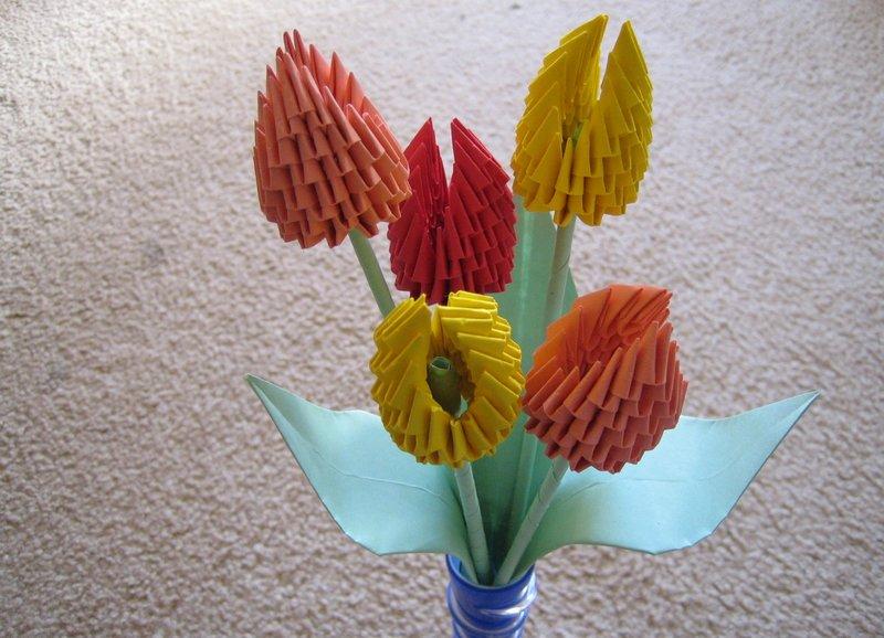 Букет тюльпанов оригами 125