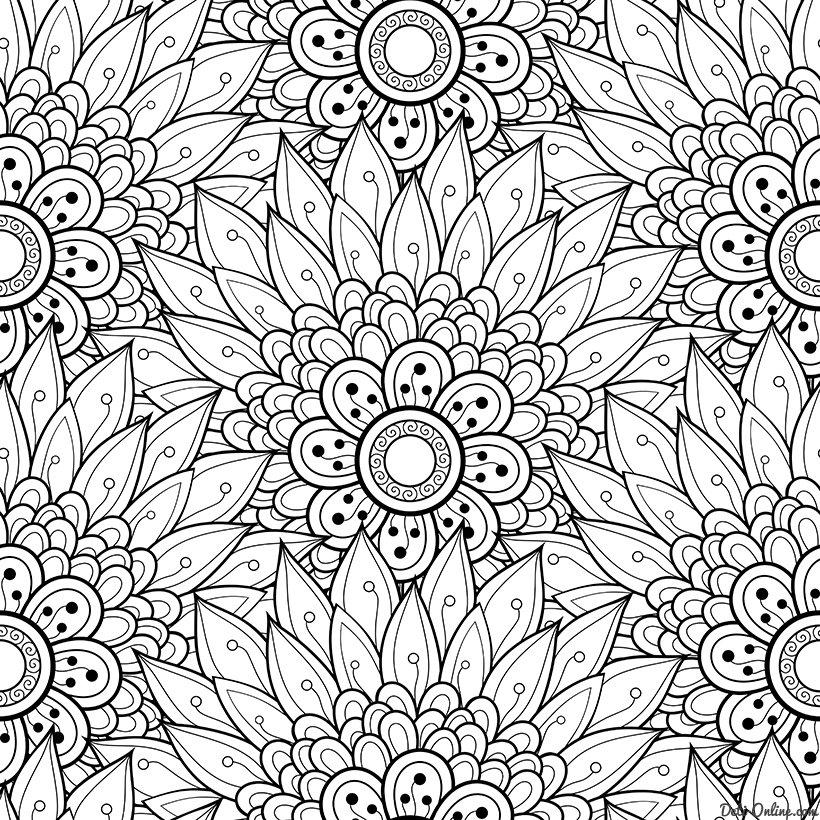 «Раскраска Антистресс цветы» — карточка пользователя ...