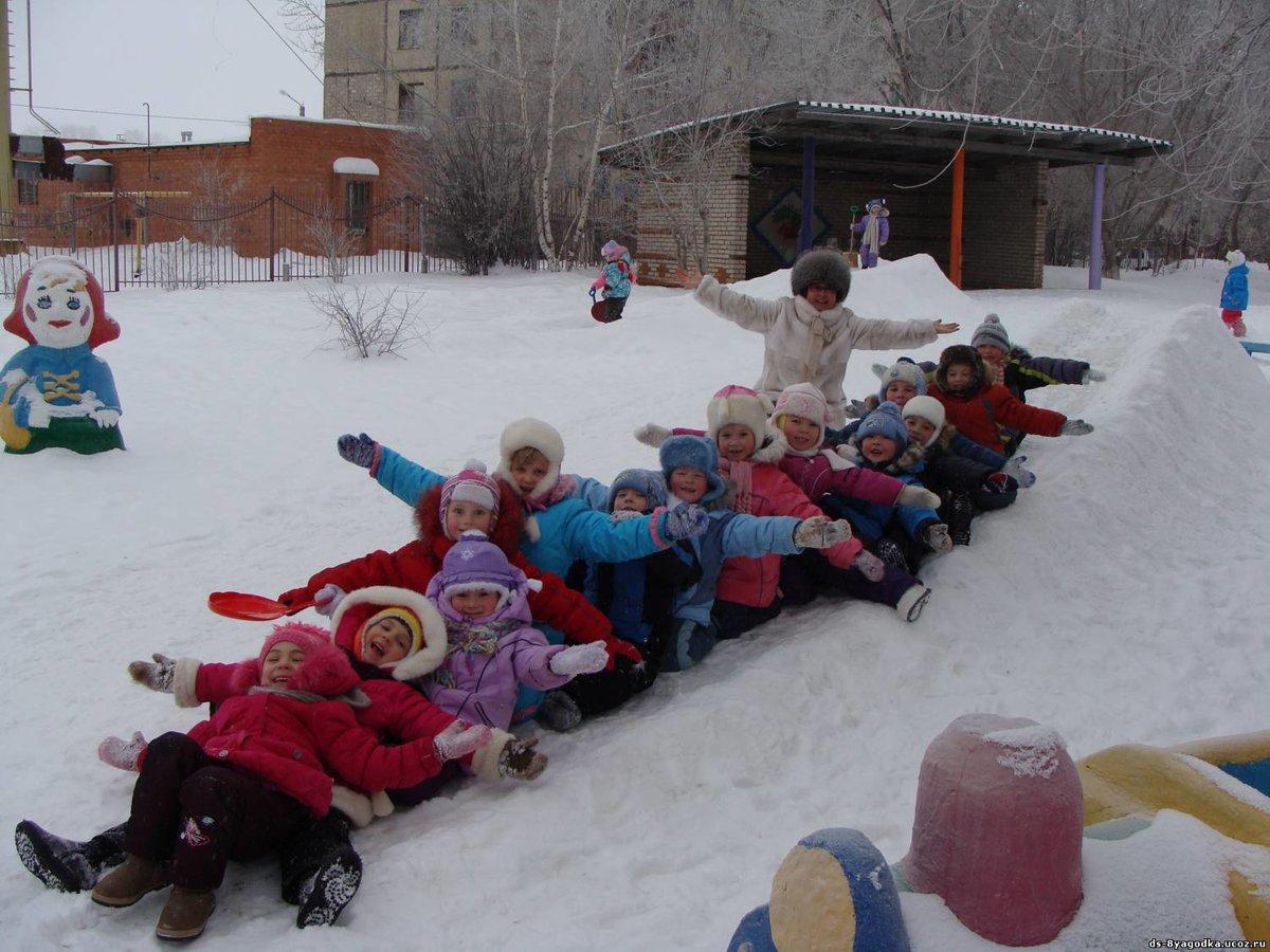 Картинка игры зимой в доу