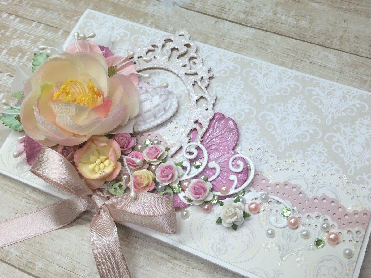 открытка конверт на свадьбу скрапбукинг мастер класс