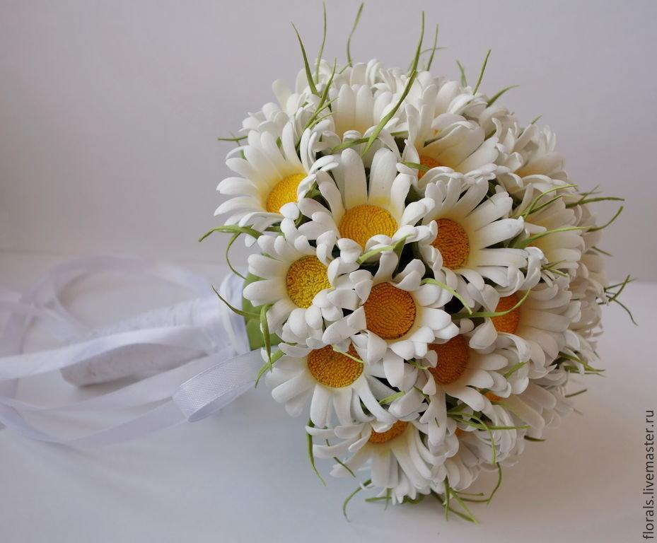 Букеты, эксклюзивный букет из ромашек свадебный