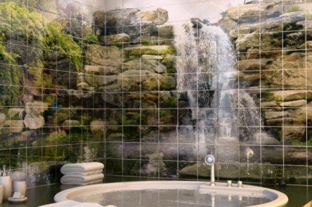 водопад клеточный принт