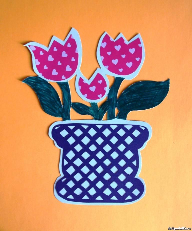 Открытка ваза с цветами шаблоны