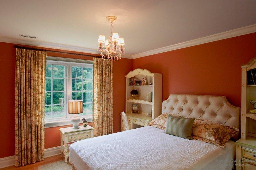 дизайн комнаты в персиковых тонах фото мой